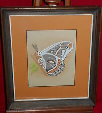 Framed Pastel Drawing #2 - Butterfly - Leslie Roe