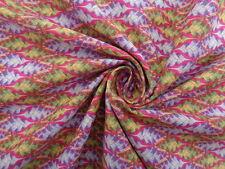 Liberty Cotton 100%, 'Marc Gosling', pink, green (1.00m x 1.35m piece)