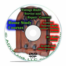 Vintage Radio Repair Home Study Course, Serviceman Technician 363 Books, DVD B75