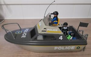 Playmobil Police Boat Play Set
