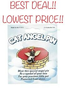 Lapel-Pin CAT ANGEL PIN (Carded) A Symbol of Love for Your Precious Little Pet