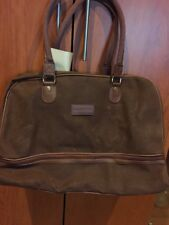 LARGE Lagerfeld Brown Faux Leather? Carrying Bag Tote with Handles