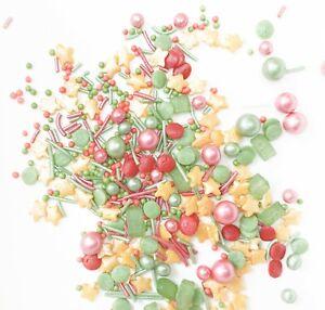 Christmas Sprinkles Xmas Festive Edible Sugar Cupcake Decoration Cake Toppers P