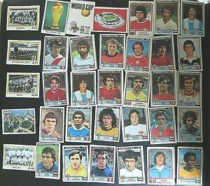 PANINI FOOTBALL LOT DE 35 IMAGES DE RECUP COUPE DU MONDE ARGENTINA 78