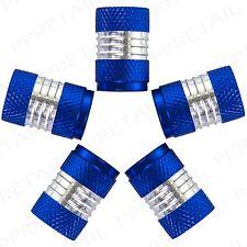 10x PREMIUM METAL ALUMINUM BLUE/SILVER VALVE DUST CAPS Car Van BMX Tire Tyre BMX