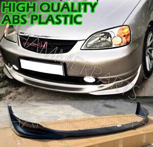 JDM HONDA Civic VTEC2 2001 2002 2003 Front Bumper Lip S2000 STYLE PLASTIC ABS