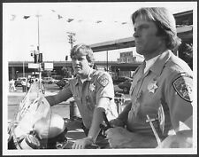 ~ CHiPs Original 1981 NBC TV Promo Photo Larry Wilcox 1980s Motorcycle