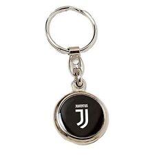 porte-clés JUVENTUS acier poli chaîne pendentif p/jeton neuf logo JJ