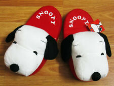 Snoopy Slippers Shoes Women size Us 4-8, Uk 2-6, Eu 35-39 New Peanuts Gang #Red