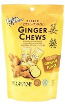 Prince Of Peace 100% Natural Ginger Candy Chews 4.4 oz BAG/ STOMACH ACHE RELIEF