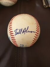 Bill Almon Padres A's Mets Sox Signed Autographed Lee MacPhail OAL Baseball
