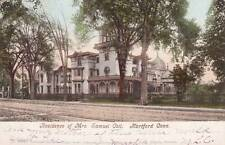 Antique POSTCARD c1905 Residence of Mrs. Samuel Colt HARTFORD, CT 17909