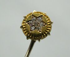 Beautiful Antique 15ct Gold And Diamond Stick / Tie Pin