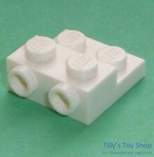 Lego - Six Stepped 2x2x2/3 Bricks, 2 Knobs - White - ID 99206 - NEW