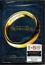 New ListingThe Lord of the Rings Return of the King Extended Edition Dvd Flat Rate Ship New