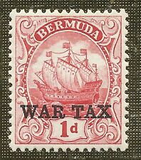 Lightly Hinged Single Bermudian Stamps