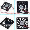 Top DC 5V 6CM 60mm 60x60x10mm 6010s brushless Cooler Cooling Fan 2pin heatsink