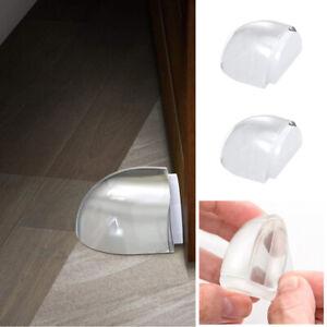 Acrylic No Need Punch Transparent Door Stopper Door Holder Home Doorstop Sup LD