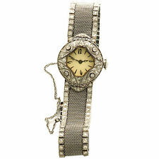 Donna Decorativo Platino Diamante Orologio di Lusso 1920S Raro Rete Fascia