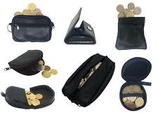 PORTAMONETE Uomo Donna Eco Pelle Nero da Tasca Portafogli Vari Modelli Zip Tacco
