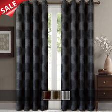 """2 Panels 52 x 63"""" Lexington Jacquard Grommet Window Drapes & Curtains"""