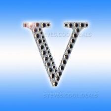 5cm Silver Diamante Craft Stickers Letters Adhesive Favour Alphabet Wedding Letter V