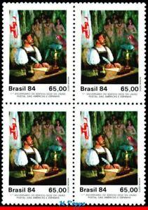 1923 BRAZIL 1984 1st LETTER MAILED, BUILDING, UPAEP, PARROT, MI# 2044 BLOCK MNH