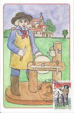 1995 - CARTE MAXIMUM 1er Jour - SANTONS de PROVENCE - Le REMOULEUR - MARSEILLE