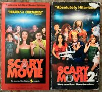 Scary Movie 1 & 2 VHS Lot Of 2 Wayans Spoof Parody