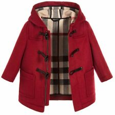 Authentic New BURBERRY Baby Infant UNI Red BROGAN Wool Duffle Coat Jacket 18M