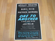 Beryl Reid ONE to ANOTHER a New Lyric Revue Original APOLLO Theatre Poster