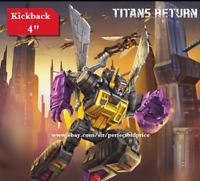 "New Transformers Hasbro Kickback Titans Return Legends Class Action Figure 4"""