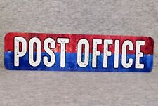 Metal Sign POST OFFICE United States postal service mailman mail carrier letter