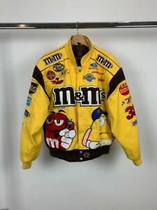 M&Ms MMs Vintage Racing Jacket Bomber Yates Racing NASCAR Men's M