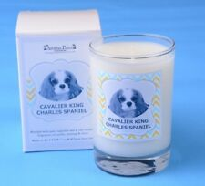 Aroma Paws CAVALIER KING CHARLES Candle Glass Vanilla Home Office Dog Pet Lover