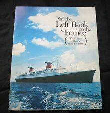 "CGT FRENCH LINE SS ""FRANCE"" Left Bank Brochure"