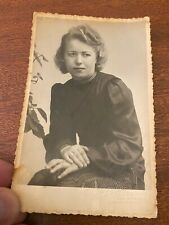 "Vintage Photograph German Woman Kathe Diedericksen. Fashion 1930's. 3.5"" x 5.5"""