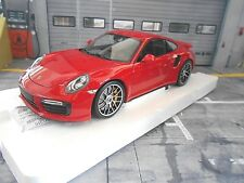 Porsche 911 991 Turbo S Coupe 2016 RED ROUGE NEW NEUF miniature MINICHAMPS 1:18