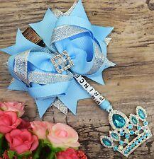 Personalised stunning pram charm in baby blue baby girls boys