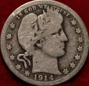 1914-S San Francisco Mint Silver Barber Quarter