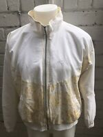 VINTAGE SERGIO TACCHINI Track Top Retro 80's Casual Jacket XL White Yellow