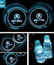 2PCS For Acura Car Auto Atmosphere Lights Colorful LED Car Cup Holder Pad Mats
