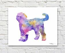 """Goldendoodle Abstract Watercolor 11"""" x 14"""" Art Print by Artist Dj Rogers"""