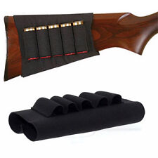 5 Round 12Gauge 20GA Shotgun Shell Holder Buttstock Ammo Carrier Cartridge Black