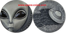 2017 Cameroon 3oz, UFO crash, 70 years Roswell incident, 3000 Francs