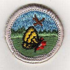 Nature Merit Badge Type G, Silver Border, Cloth Back  (1969-71), Mint!