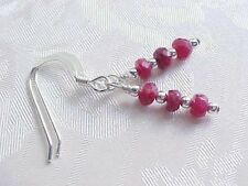 Faceted Ruby Earrings Minimalist Stack Sundance Sterling Silver July Birthstone