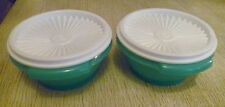 Tupperware Free Shipping Servalier New Set 2 (1 1/2 cup) Green and white lid.