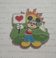 WDW 2013 Disney World 1970's HIPPIE MICKEY MOUSE Friends Mystery Collection Pin