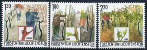 👉 Liechtenstein 2003 SPRING VINEYARDS Mi#1311-13 MNH  FOOD